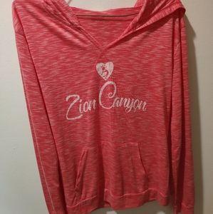 Coral pink hoodie